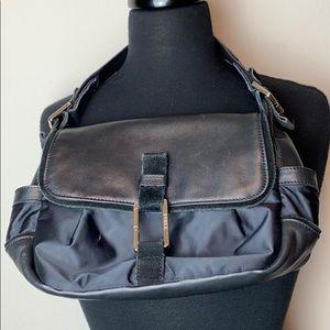 Furla Leather and Nylon Small Hobo Handbag